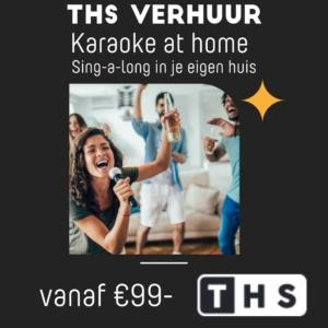 karaoke bij je thuis met deze karaokeset van THS Verhuur